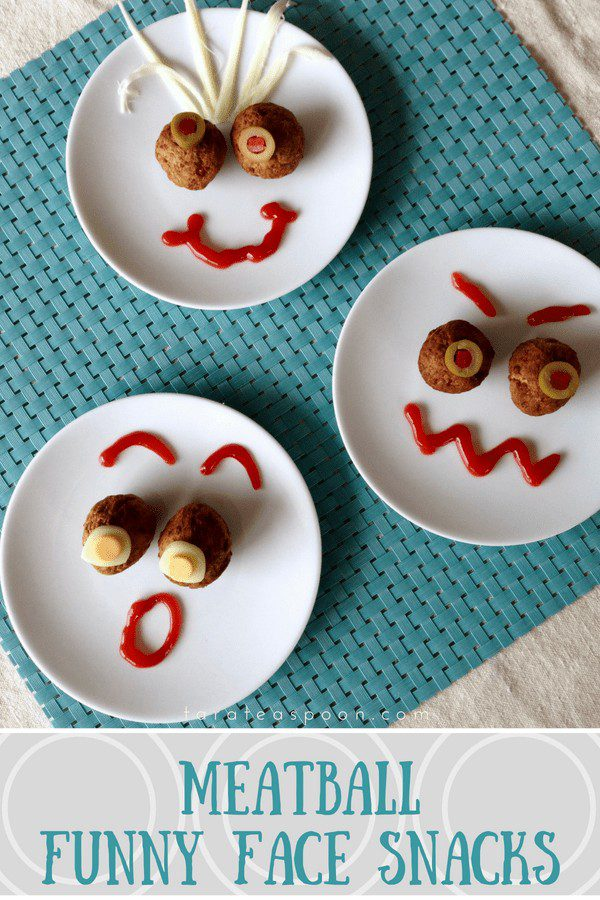 Funny Face Meatballs pin image