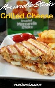 Grilled Cheese Sandwich Mozzarella Stick Snacks from Creole Contessa