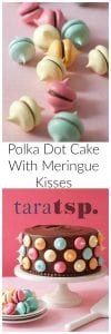 Pinterest image for Polka Dot Cake with text