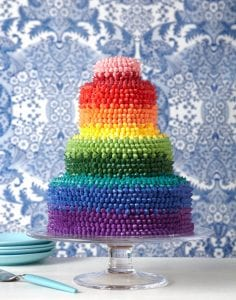 The most impressive rainbow cake recipe image