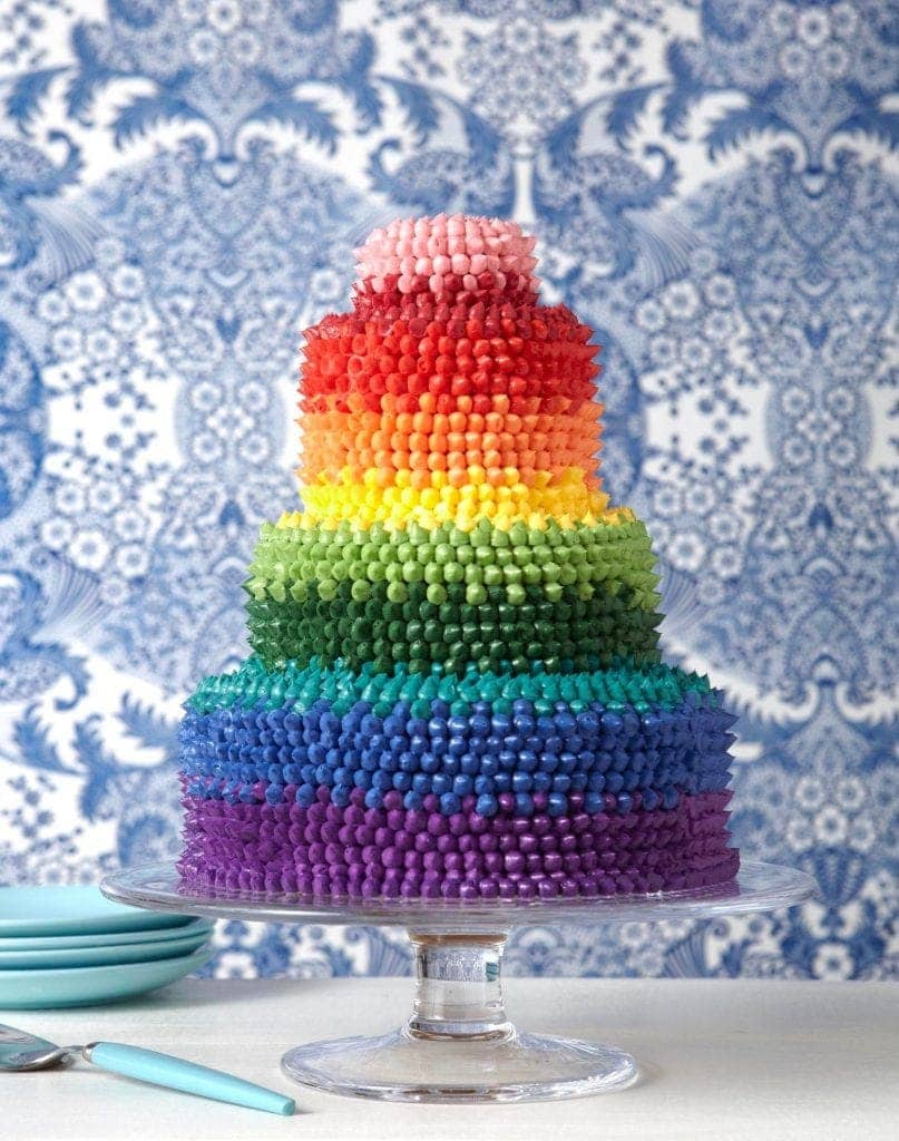 Cake Mix Rainbow Cupcakes Recipe