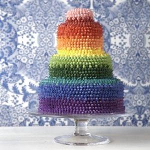 The most impressive rainbow cake