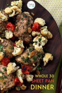 Chicken and Cauliflower Pan Dinner Pinterest Pin