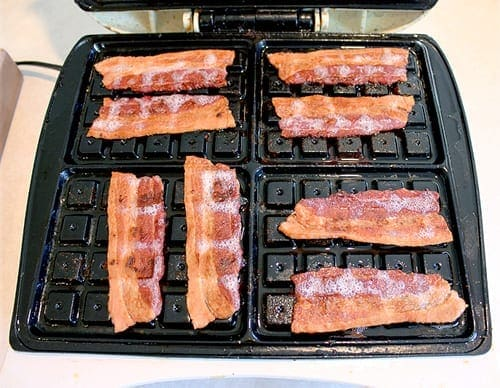 Waffle Iron Bacon