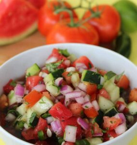 Moms Need to Know Easy Watermelon Fruit Salsa recipe image with text