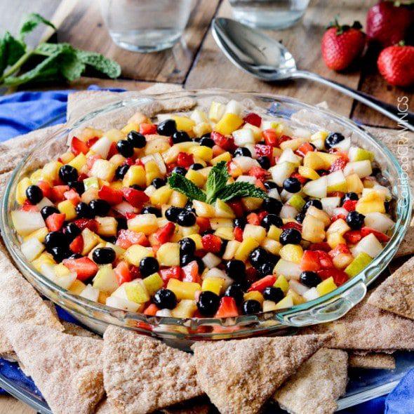 Carlsbad Cravings Rainbow Fruit Salsa Cheesecake Dip recipe image