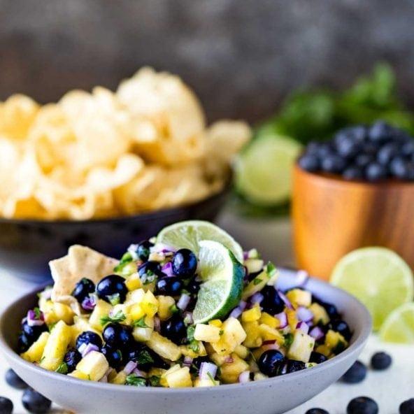 Eazy Peazy Mealz Blueberry Pineapple Fruit Salsa recipe image
