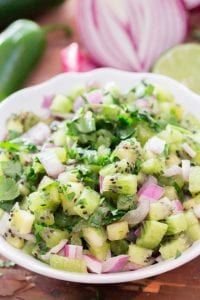 Jerry James Stone Simple Kiwi Fruit Salsa recipe image