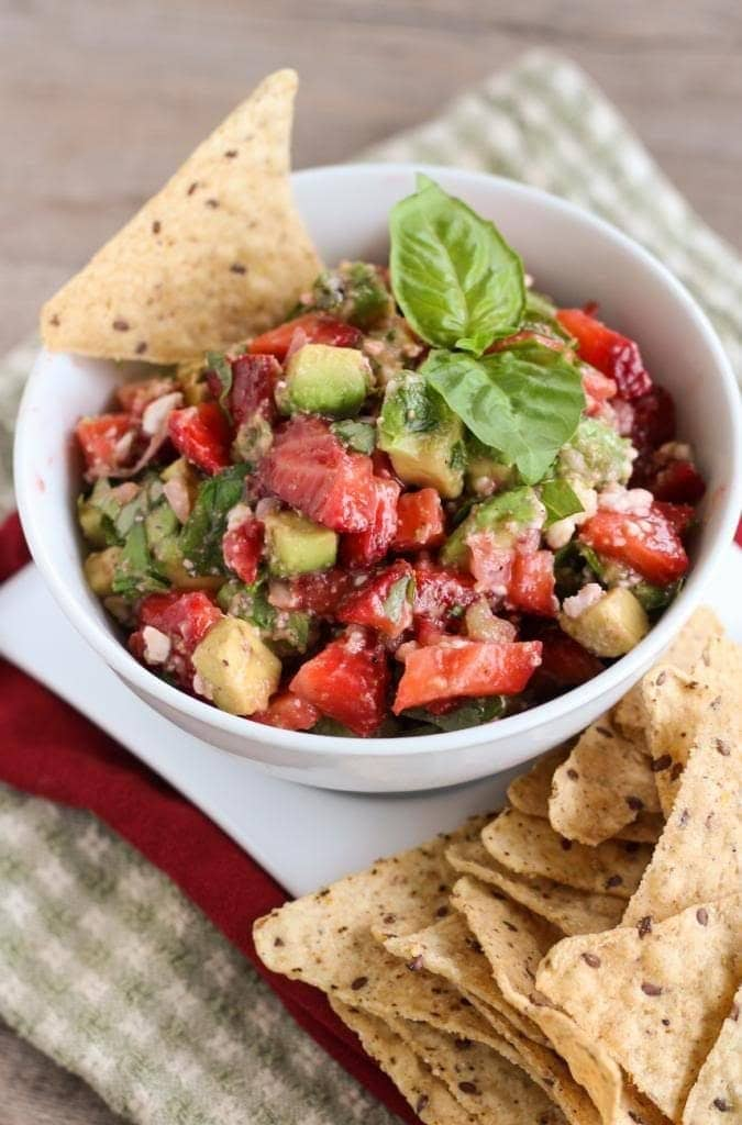 Strawberry, Avocado, and Feta Salsa