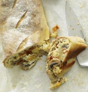 Close up of Stromboli slice