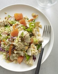 Close up recipe image of Crunchy Chicken Noodle Salad
