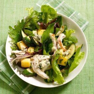 Warm Polenta, Zucchini & Chicken Salad