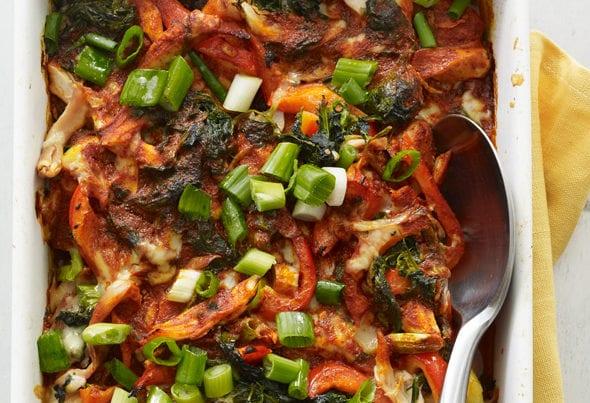 Spinach and Chicken Enchilada Casserole feature