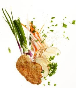Ingredients for Sesame Chicken with Apple Carrot Slaw recipe