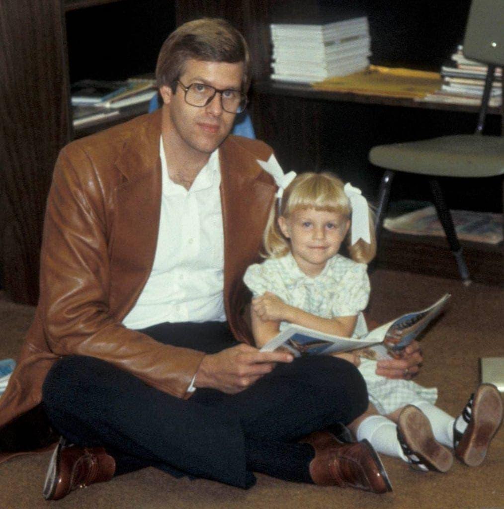 Tara Teaspoon with her dad, Bob.