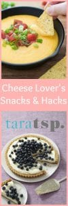 Pinterest image for Cheese Lover's Snacks with text