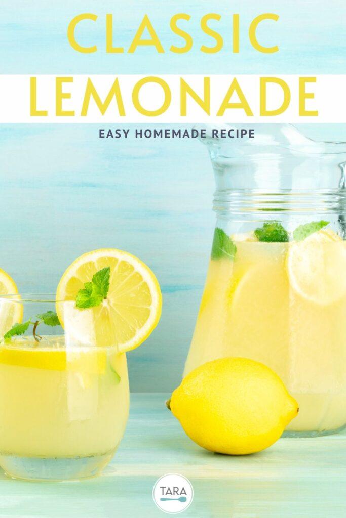 classic homemade lemonade pin