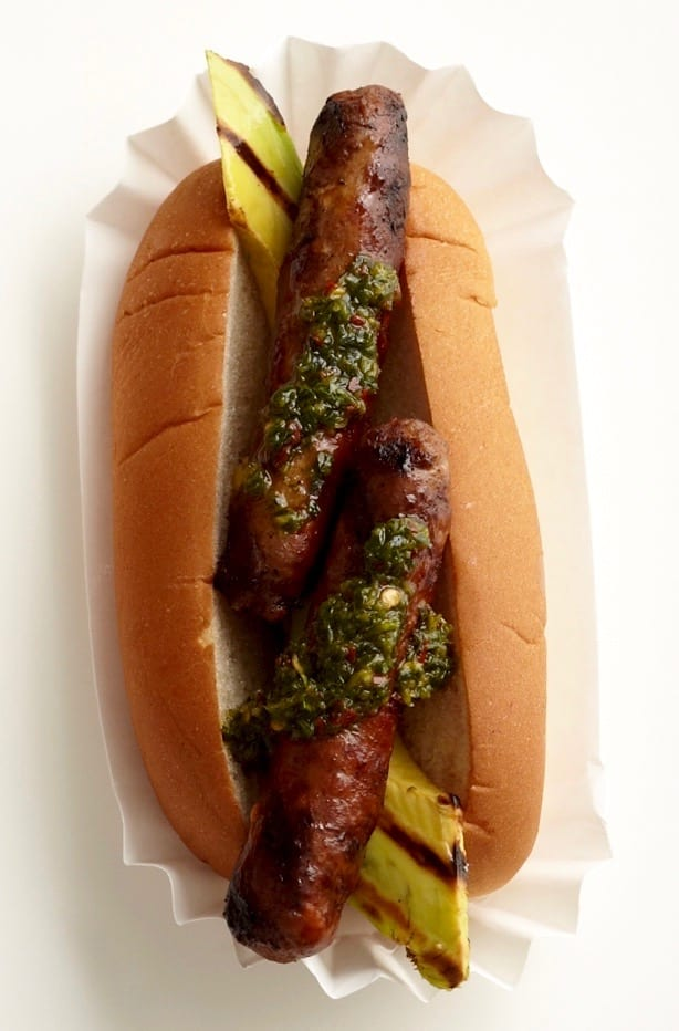 Fancy Dogs with Avocado Chimichurri