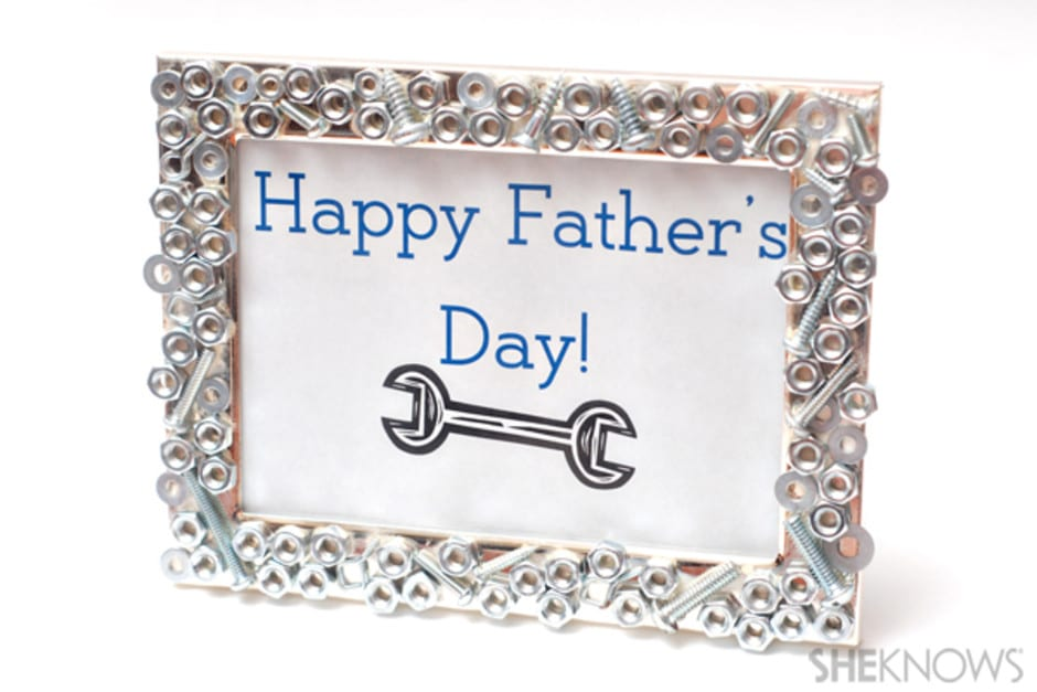 Nuts and Bolts Father's Day Picture Frame