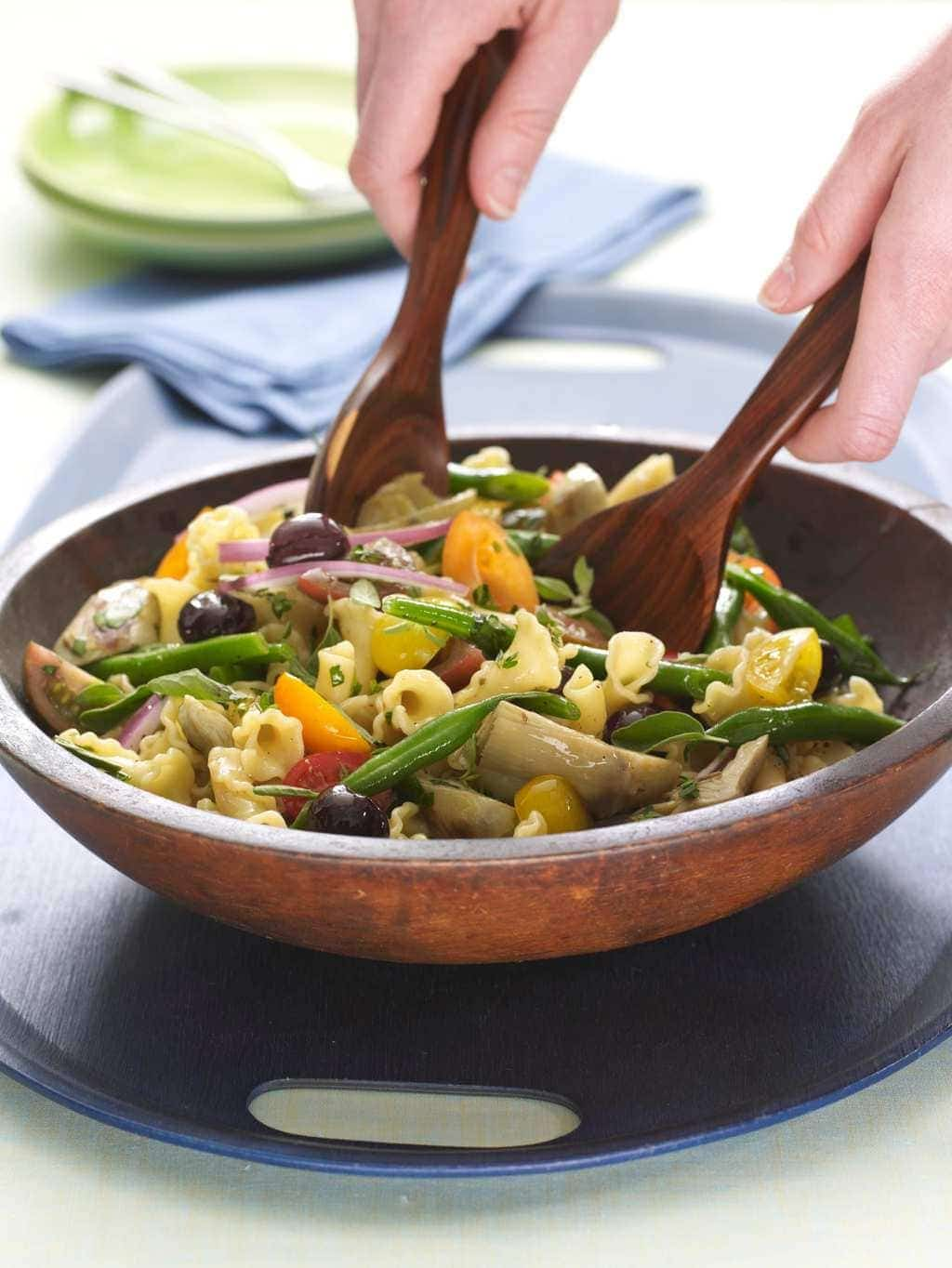 Herbed Vegetable Pasta with Artichokes