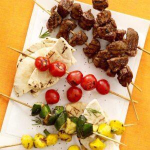 Lemon Herb Lamb And Vegetable Kabobs