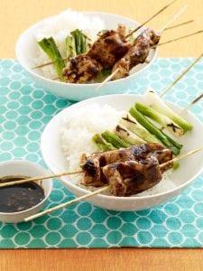 Teriyaki Chicken and Scallion Kabobs recipe image