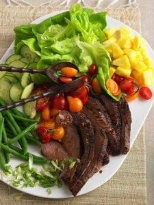 Thai Steak Salad on white platter