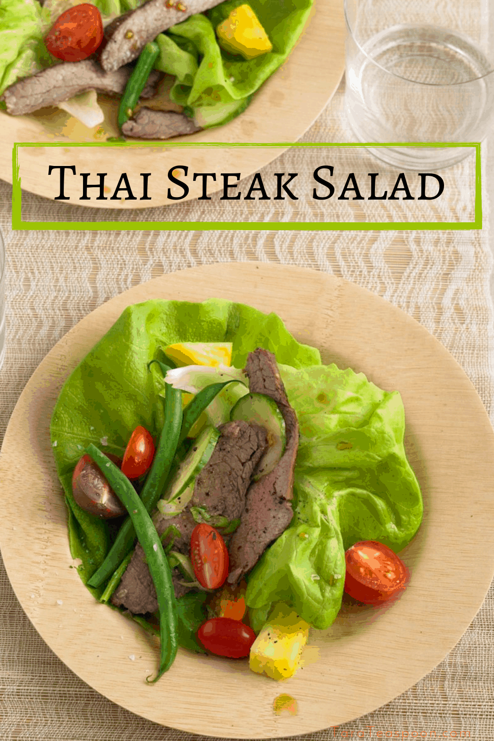 plate of thai steak salad