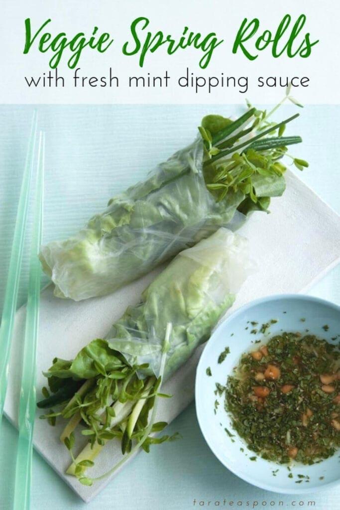 Veggie Spring Rolls pin