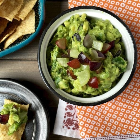 Summer Grape Guacamole