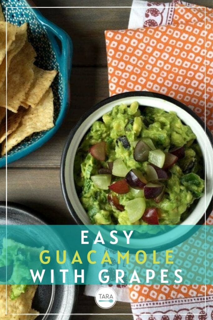 easy summer grape guacamole pin