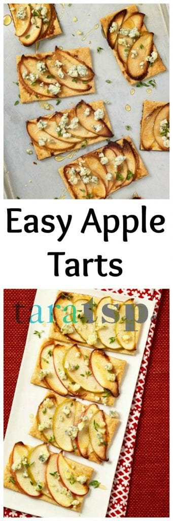 Pinterest image for Easy Apple Tarts with text