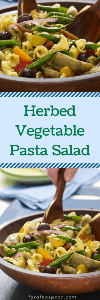 Herbed Vegetable Pasta in a wooden bowl