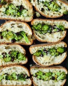 Roasted broccoli melt slices