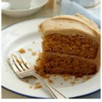 Pinterest image for Creamy Caramel Icing with text