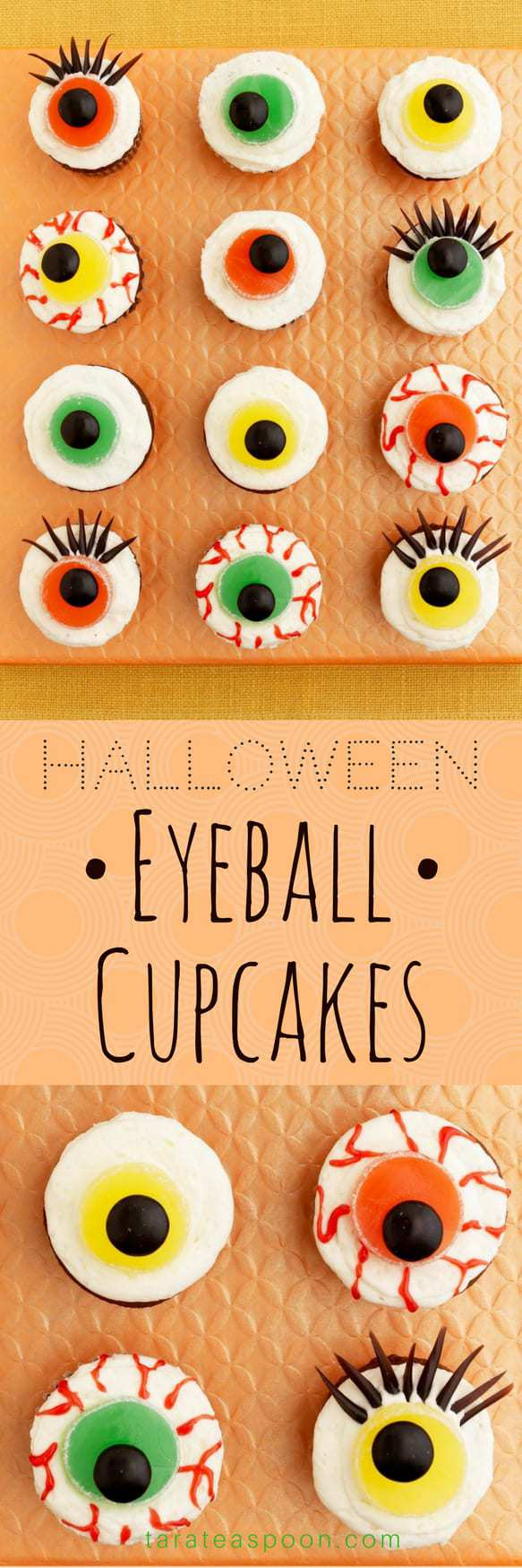 Eerie Eyeball Cupcakes pin