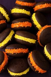 Halloween Whoopie Pies orange yellow