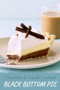 chocolate and vanilla pie pin