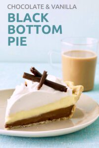 Black Bottom Pie on a plate pin