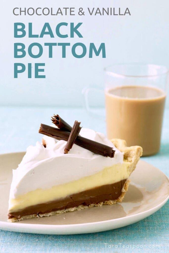 Black Bottom Pie on a plate pin