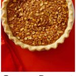Pinterest image for Gooey Peanut Pie with text