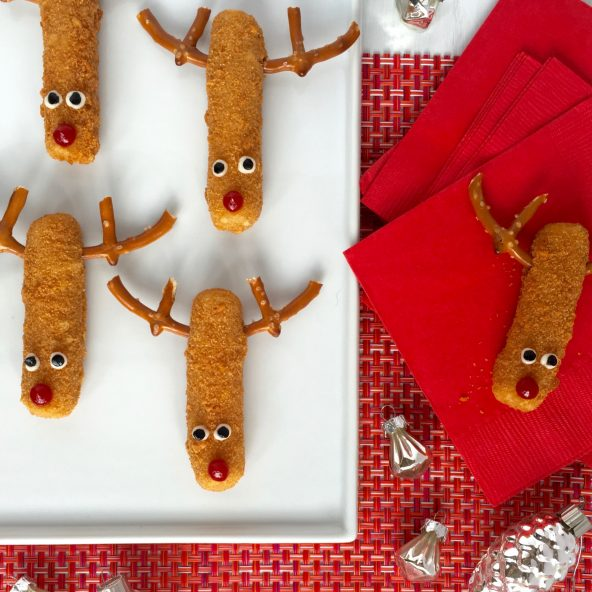 Mozzarella Sticks Reindeer Snacks