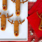 Mozzarella Stick Reindeer Snacks for the holiday pin image