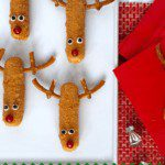Mozzarella Stick Reindeer bites for Christmas pin image