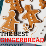gingerbread men cookies on white plate