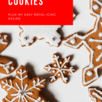 gingerbread snowflake cutout cookies on white plate