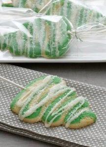 Christmas Tree Lollipop Cookies recipe image