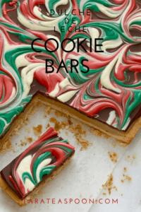 Christmas Cookie Bars Dulche de Leche