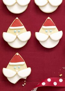 Close up recipe image of Santa Face Cookies