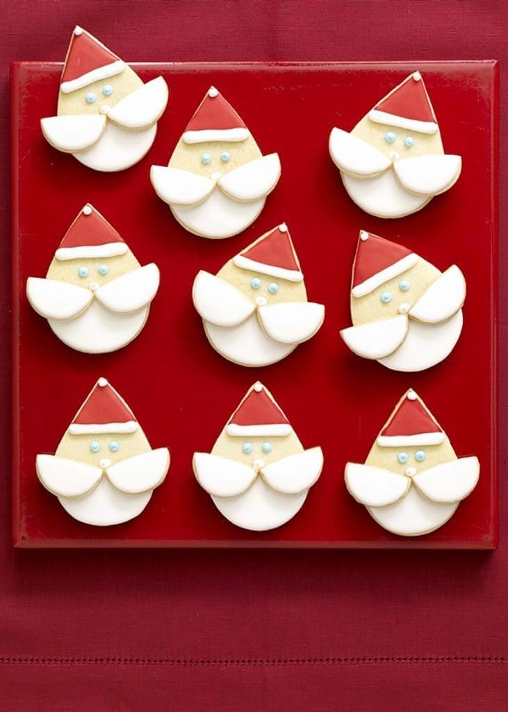 santa face sugar cookies tarateaspoon